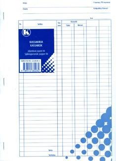 KASSAKIRJA A4 (2X50 LEHTEÄ JÄLJENTÄVÄ)