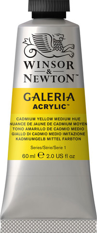 Akryyliväri, Cadmium Yellow Medium Hue, 60 ml