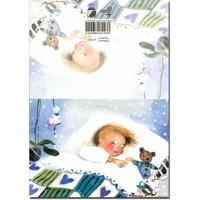 2-os avattava onnittelukortti vauvalle