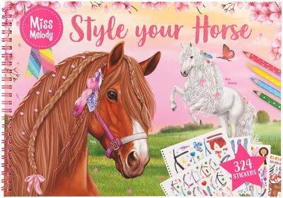 Miss Melody style your horse- värityskirja