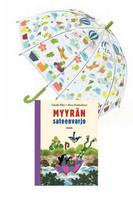 Lasten sateenvarjo Sammakko + Myyrän sateenvarjo-kirja