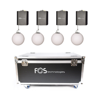 4x FOS Lifting Ball DMX + Case