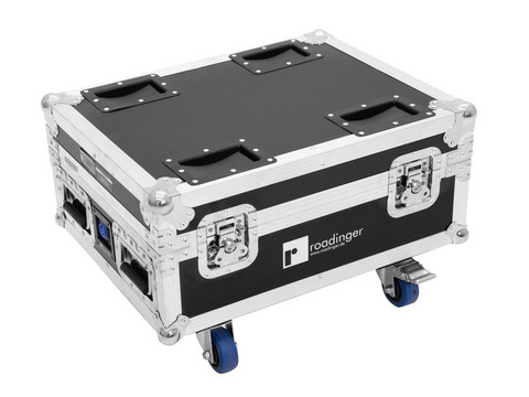 ROADINGER Flightcase 4x AKKU IP UP-4 QuickDMX with charging function