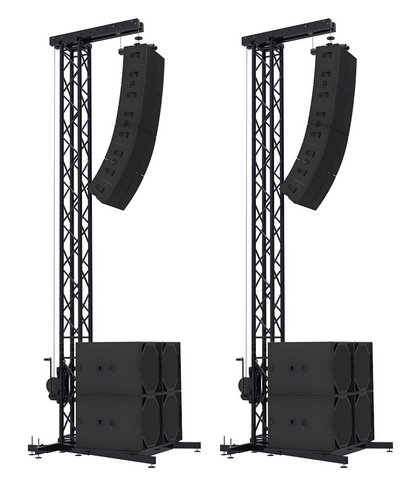 Voice-Acoustic 2x PA-Tower Set, Incl. Trusses