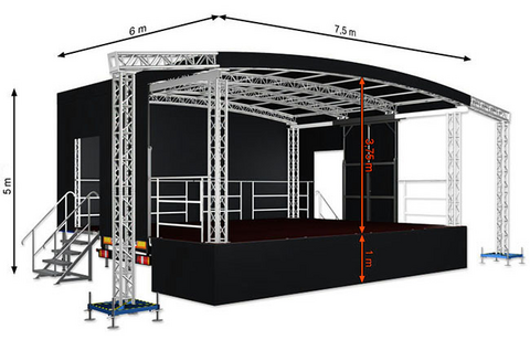 Profiled M45 (7,5x6x5m) Mobile Stage