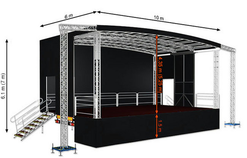 Profiled L60 (10x6x6,1m) Mobile Stage