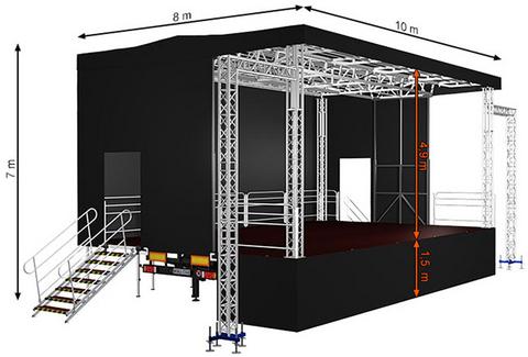 Standard XL80 (10x8x7m) Mobile Stage