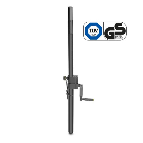 Gravity SP 2472 B - Speaker Pole with Crank, 35mm to M20, 1100 mm
