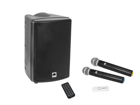 OMNITRONIC Set WMAS-08BT MK2 wireless PA system + UWM-2HH USB Wireless mic set