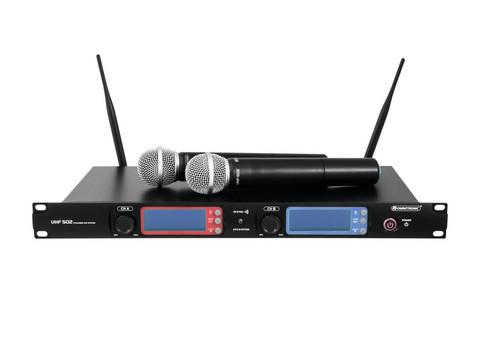 * VUOKRAUS * OMNITRONIC UHF-502 2-Channel Langaton Mikrofonijärjestelmä   823-832MHz
