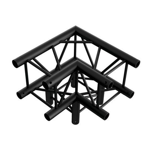 Milos Corner 3-way 90° Pro-30 Square P Truss, Black