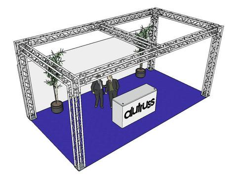 * VUOKRALLE* ALUTRUSS Truss set, QUADLOCK 6082 rectangle 7.71x4x3.5m (WxDxH)