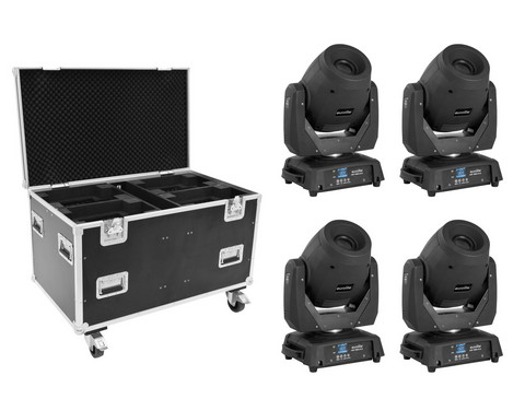 EUROLITE Set 4x LED TMH-X12 + EU Case