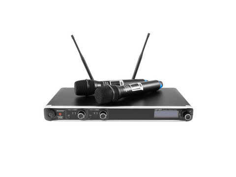 OMNITRONIC UHF-302 2-Channel Wireless Mic System, 823-832/863-865MHz