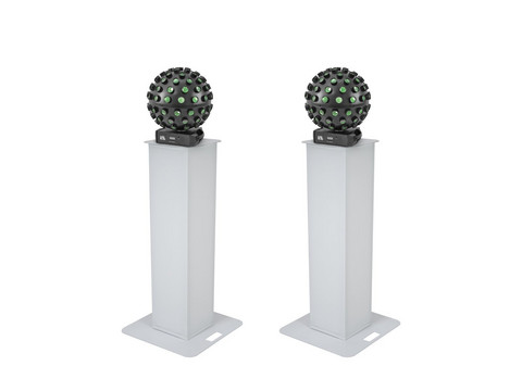 * VUOKRAUS * EUROLITE Set 2x Stage Stand 100cm + 2x LED B-40 HCL Beam Effect