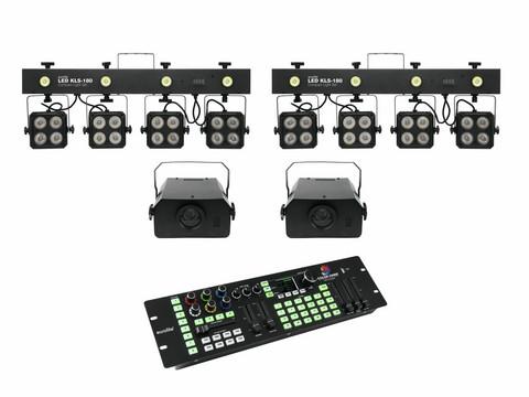 EUROLITE Set: 2x LED KLS-180, 2x LED WF-40, LED Color Chief Controller