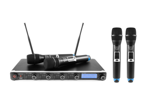OMNITRONIC UHF-304 4-Channel Wireless Mic System 823-832/863-865MHz