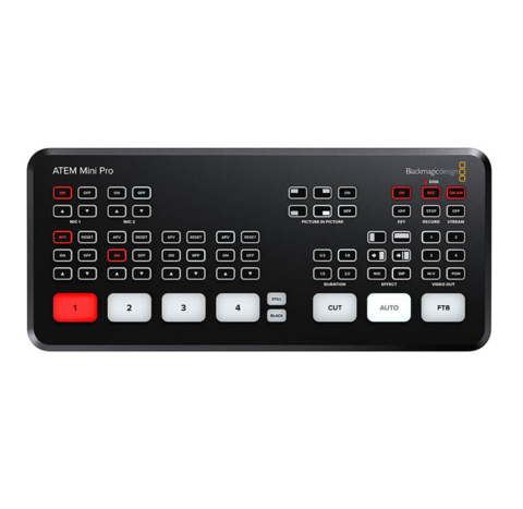 Blackmagic ATEM Mini Pro, HDMI Live Stream Switcher