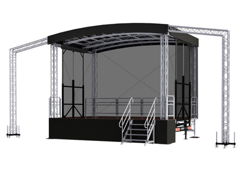 Profiled S24 (6x4x5m) Mobile Stage