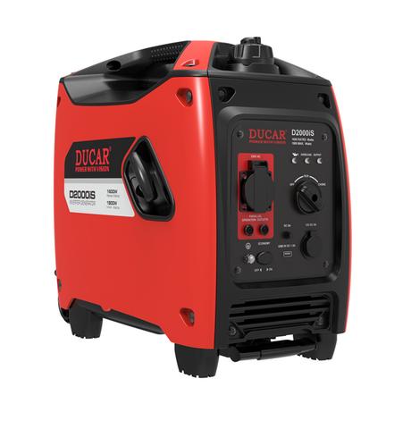 Ducar D2000iS Generaattori Renkailla ja Vetokahvalla