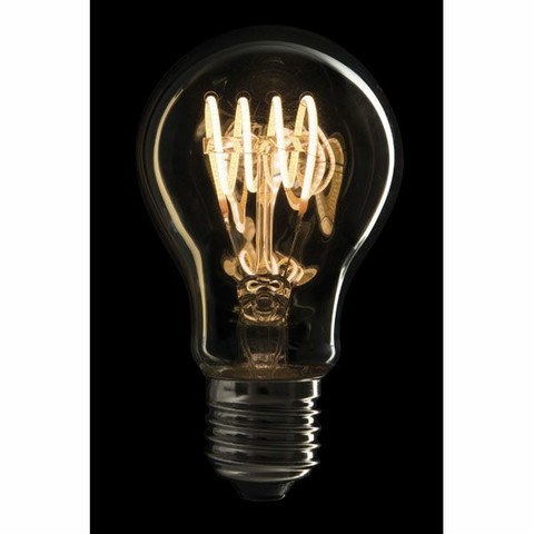 Showtec LED Filament Bulb E27, 4W, Dimmable, Gold glass cover