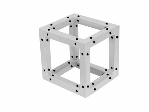 ALUTRUSS DECOTRUSS Quad Corner Block, sil/bk