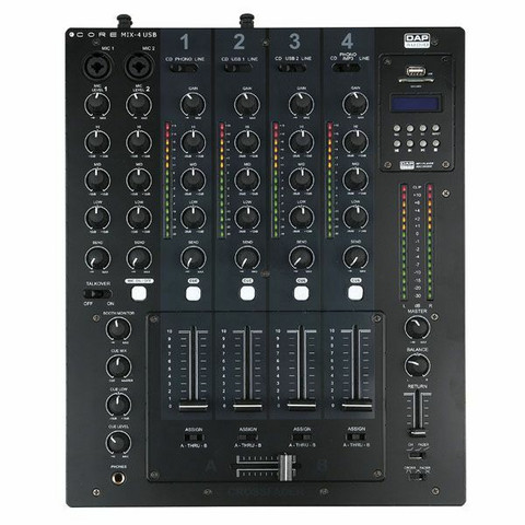DAP Core MIX-4 USB, 4 Channel DJ Mixer with USB Interface