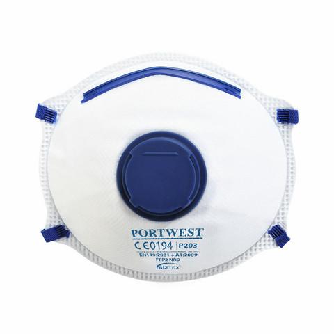 PORTWEST FFP2 DOLOMITE Hengityssuojain Ventiilillä (10kpl)