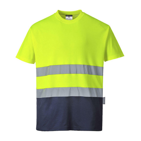 PORTWEST 2-sävy Cotton Comfort-t-paita