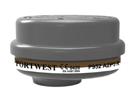 PORTWEST A2P3 Yhdistelmäsuodatin Pikaliittimellä (4kpl laatikossa)