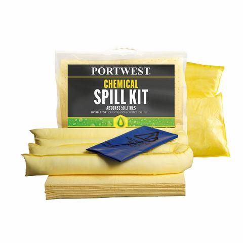 PORTWEST 50 litran Tulvapaketti Kemikaaleille