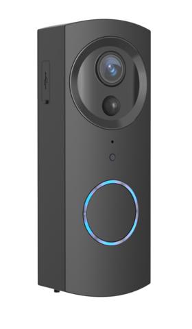 WOOX-R9061 Video-ovikello, 2x 2600mAh Akulla, Kaksisuuntainen Ääni