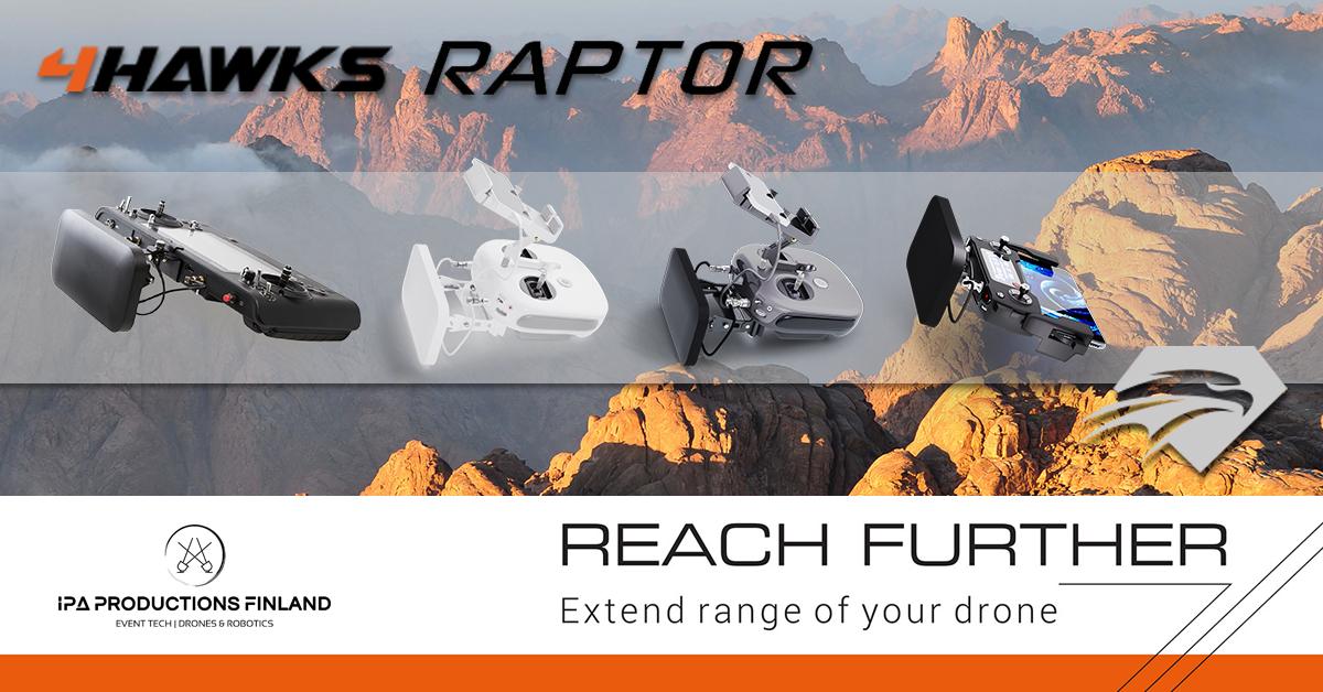 4Hawks Raptor Range Extenders for Drones