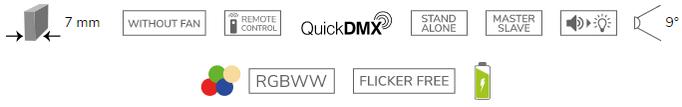 EUROLITE AKKU Dot 1 RGB/WW QuickDMX bk