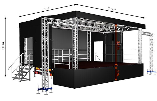 ALSPAW Standard M45 Mobile Stage
