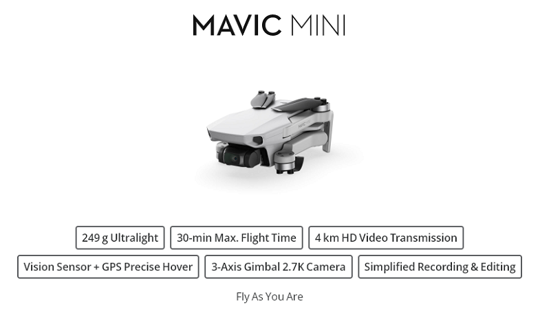 DJI Mavic Mini - Ultralight Drone
