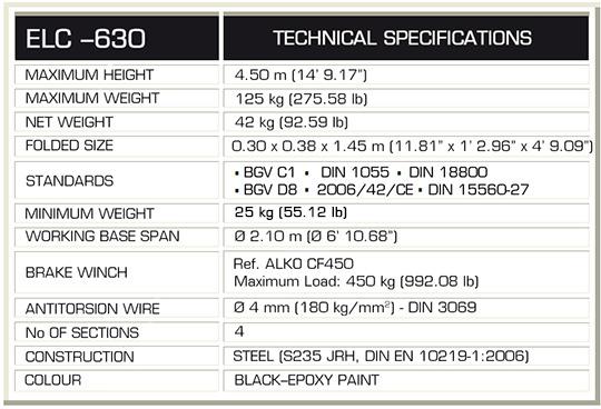 GUIL ELC-630 Specs