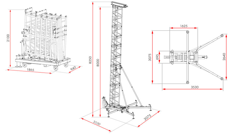 Guil TDM-570 Line Array Tower