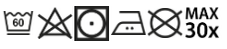 PORTWEST CV22 Kangasmaskin pesuohje