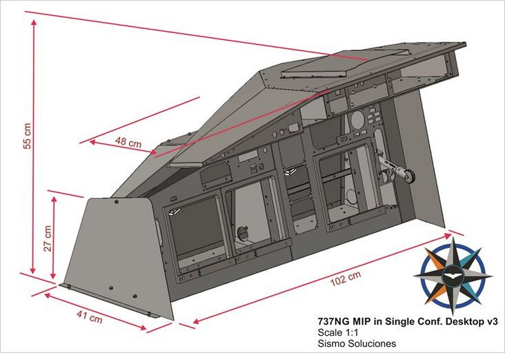 MIP Single Desktop Ethernet for the Boeing 737NG Simulator