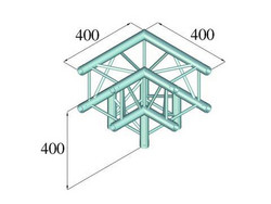 ALUTRUSS DECOLOCK DQ4-PAL30 3-way corner 90°