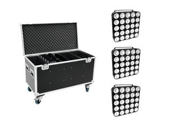 EUROLITE Set 4x LED PMC-25x10W COB RGB + Case
