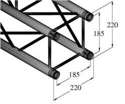 ALUTRUSS DECOLOCK DQ4-3000 4-Way Cross Beam
