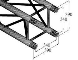 ALUTRUSS QUADLOCK TQ390-2000 4-Way Cross Beam
