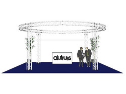 ALUTRUSS Truss set, QUADLOCK 6082 circle 6.6x3.5m