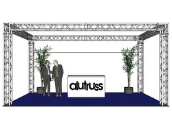 *VUOKRALLE* ALUTRUSS Truss set, QUADLOCK 6082 rectangle 7x4x3.5m (WxDxH)