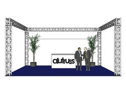 *VUOKRALLE* ALUTRUSS Truss set, QUADLOCK 6082 U-Figure 7x4x3.5m (WxDxH)