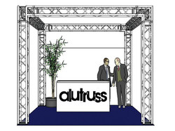 *VUOKRALLE* ALUTRUSS Truss set, QUADLOCK 6082 square 4x4x3.5m (WxDxH)