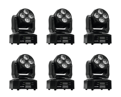 SET 6x EUROLITE LED TMH-46 Moving-Head Wash