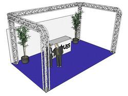*VUOKRALLE* ALUTRUSS Truss set, QUADLOCK 6082R U-Figure 7x4x3.5m (WxDxH)